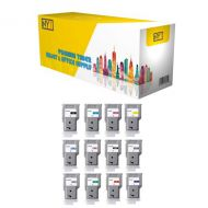 NYT New Compatible 12 Pack PFI-206BK CMY PC PM G R GY PGY MBK Blue HY Ink Cartridge for Canon ImagePROGRAF iPF6300 6350 - 1Set